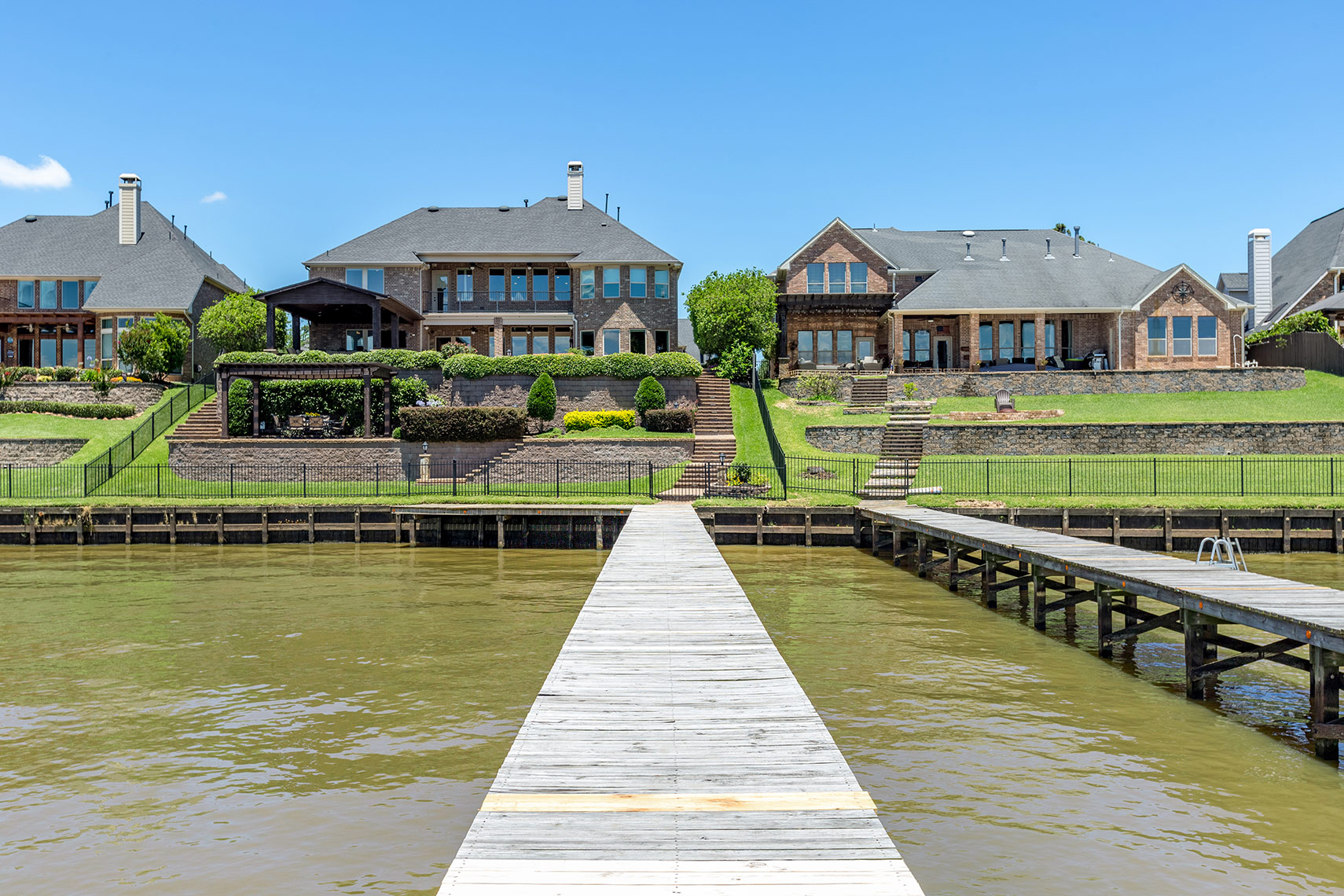 Lake-house-view-from-private-dock-in-Houston
