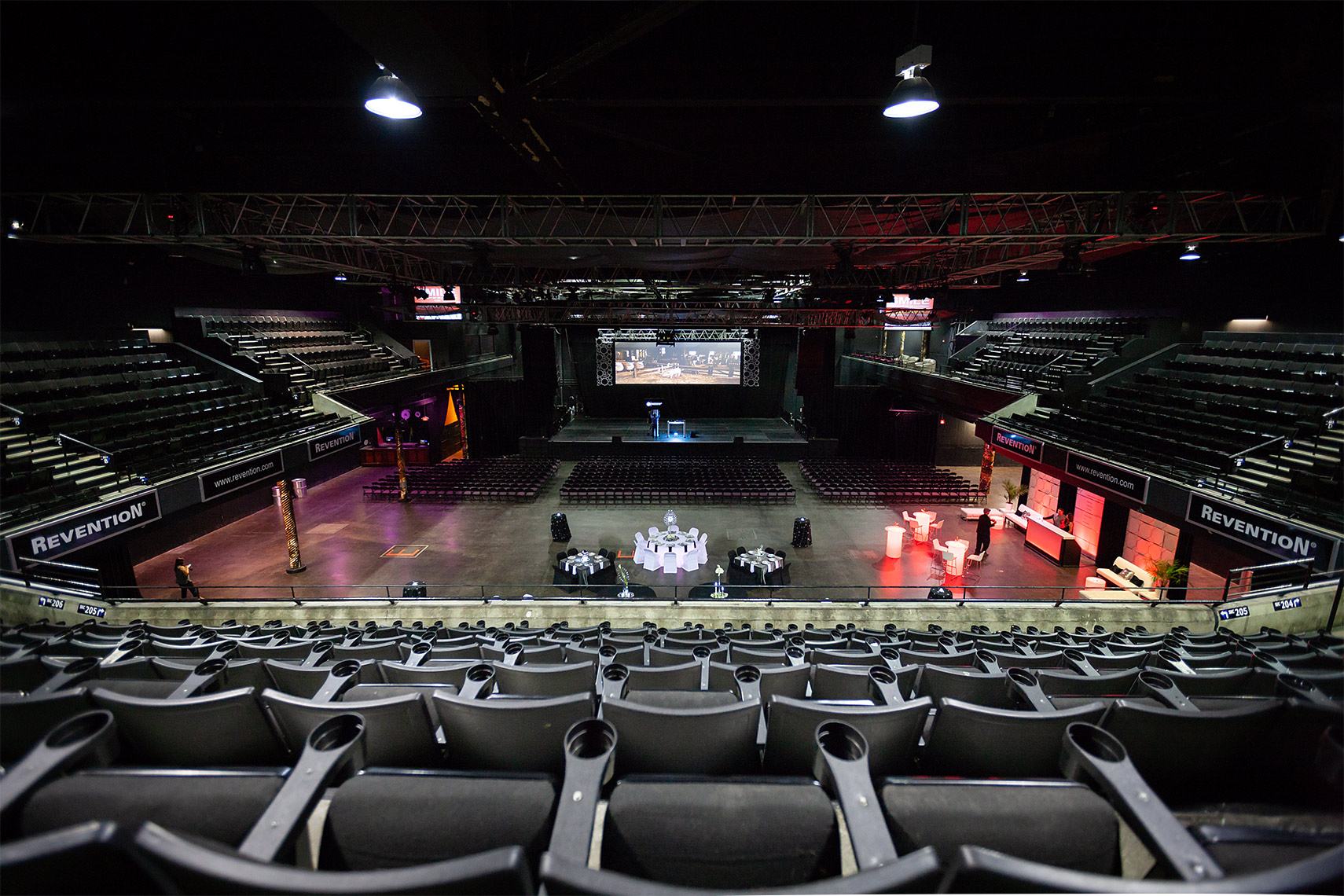 Revention-Music-Center-entertainment-venue-seating-Houston-architectural-photography